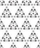 Abstract Naadloos Geometrisch Patroon Eenvoudige vormen Royalty-vrije Stock Afbeeldingen