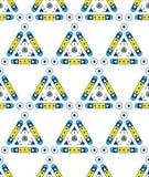 Abstract Naadloos Geometrisch Patroon Eenvoudige vormen Royalty-vrije Stock Fotografie