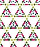 Abstract Naadloos Geometrisch Patroon Eenvoudige vormen Stock Foto's