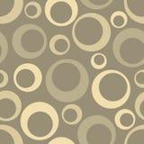 Abstract Naadloos geometrisch patroon met cirkels Stock Afbeelding