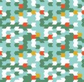 Abstract Naadloos Geometrisch Patroon Optische illusie van motie Stock Afbeelding