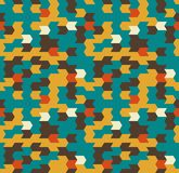 Abstract Naadloos Geometrisch Patroon Optische illusie van motie Stock Afbeeldingen