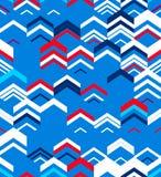 Abstract Naadloos Geometrisch Patroon Optische illusie van motie Stock Foto