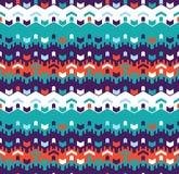 Abstract Naadloos Geometrisch Patroon Optische illusie van motie royalty-vrije illustratie