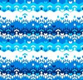 Abstract Naadloos Geometrisch Patroon Optische illusie van motie Royalty-vrije Stock Fotografie