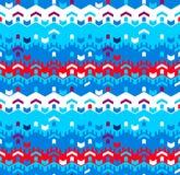Abstract Naadloos Geometrisch Patroon Optische illusie van motie Royalty-vrije Stock Foto