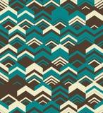 Abstract Naadloos Geometrisch Patroon Optische illusie van motie Royalty-vrije Stock Afbeelding