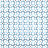 Abstract Naadloos Geometrisch Patroon van Blauwe het Ontwerp van de Netkubus Grafische Vectorillustratie Als achtergrond Stock Afbeelding