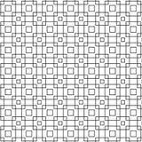 Abstract Naadloos Geometrisch Patroon van Zwarte het Ontwerp van de Netkubus Grafische Vectorillustratie Als achtergrond Royalty-vrije Stock Fotografie