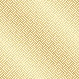 Abstract Naadloos Gouden Art Deco Vector Pattern stock illustratie