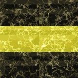 Abstract naadloos gouden en zwart marmerpatroon met aders royalty-vrije illustratie
