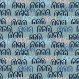 Abstract naadloos hand getrokken patroon Moderne grungetextuur Kleurrijke borstel geschilderde achtergrond Textuur met divers Royalty-vrije Stock Foto