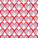 Abstract naadloos hartpatroon Stock Afbeeldingen
