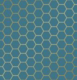 Abstract naadloos hexagon patroon Het herhalen van luxeachtergrond royalty-vrije illustratie