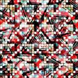 Abstract naadloos kleurenpatroon in graffitistijl kwaliteits vectorillustratie voor uw ontwerp Stock Afbeeldingen