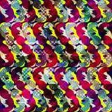 Abstract naadloos kleurenpatroon in graffitistijl kwaliteits vectorillustratie voor uw ontwerp Royalty-vrije Stock Fotografie
