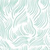 Abstract naadloos kleurrijk patroon met groene hand getrokken lijnen royalty-vrije illustratie