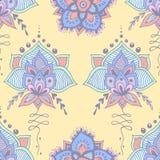 Abstract naadloos krabbelpatroon royalty-vrije illustratie
