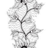 Abstract naadloos lint met bloemen Royalty-vrije Stock Foto