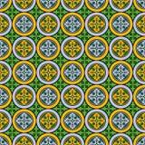 Abstract naadloos middeleeuws dwarspatroon Stock Fotografie