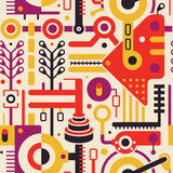 Abstract Naadloos Modern Art Pattern voor Dekkingsontwerp vector illustratie