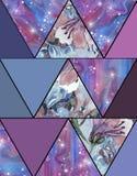 Abstract naadloos mooi patroon als achtergrond Royalty-vrije Stock Fotografie