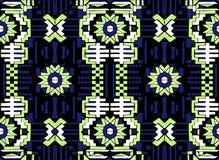 Abstract naadloos oosters patroon De stof werd geverft met de inkt van India Indonesi Royalty-vrije Stock Foto's