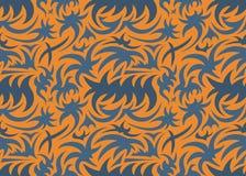 Abstract naadloos organisch patroon Vector illustratie Stock Afbeelding