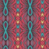 Abstract naadloos ornamentpatroon het caleidoscoopeffect Etnisch damastmotief stock illustratie