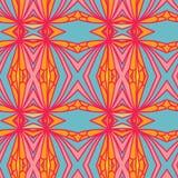 Abstract naadloos ornamentpatroon het caleidoscoopeffect Etnisch damastmotief royalty-vrije illustratie