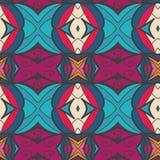 Abstract naadloos ornamentpatroon het caleidoscoopeffect Etnisch damastmotief vector illustratie