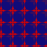 Abstract naadloos oud stijlpatroon met rood, blauw en purple stock illustratie
