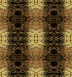 Abstract naadloos patroon die met bruine strepen slang op huid lijken vector illustratie
