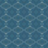 Abstract Naadloos Patroon Een donkerblauwe achtergrond Stock Afbeelding