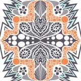 Abstract naadloos patroon in etnische stijl stock illustratie