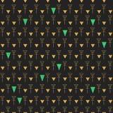 Abstract naadloos patroon gouden en donker grijs Stock Fotografie