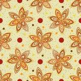 Abstract Naadloos Patroon Heldere de herfstkleuren Stock Afbeelding