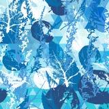 Abstract naadloos patroon met bladeren Royalty-vrije Stock Afbeeldingen