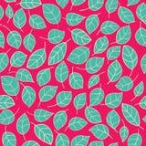 Abstract naadloos patroon met bladeren Royalty-vrije Stock Afbeelding