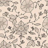Abstract naadloos patroon met bloemen Royalty-vrije Stock Afbeeldingen