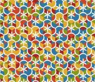 Abstract naadloos patroon met bloemenpatronen Geometrisch mozaïek Royalty-vrije Stock Foto's