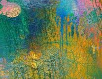 Abstract naadloos patroon met chaotische lijn en verschillende kleurenelementen royalty-vrije illustratie