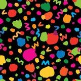 Abstract naadloos patroon met chaotische lijnen en punten Bevlekte achtergrond Royalty-vrije Stock Afbeeldingen