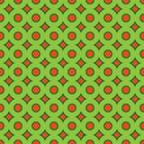 Abstract naadloos patroon met cirkelelementen Stock Afbeelding