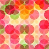 Abstract naadloos patroon met cirkels Royalty-vrije Stock Afbeeldingen