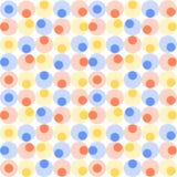 Abstract naadloos patroon met cirkels Royalty-vrije Stock Foto's
