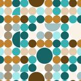 Abstract naadloos patroon met cirkels Stock Foto's
