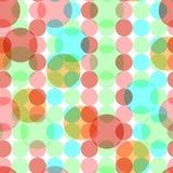 Abstract naadloos patroon met cirkels Royalty-vrije Stock Afbeelding