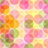 Abstract naadloos patroon met cirkels Stock Afbeelding