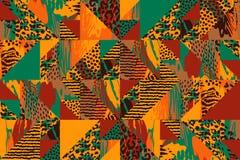 Abstract naadloos patroon met dierlijke druk Royalty-vrije Illustratie